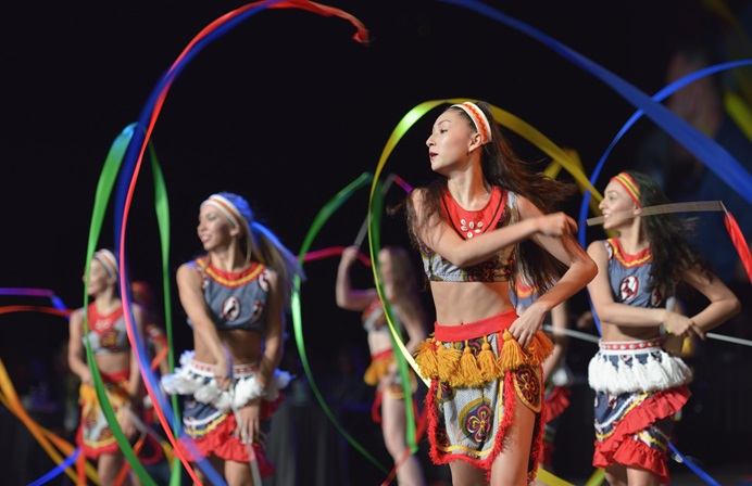Dancers celebrate the accomplishments of the denomination's Imagine No Malaria campaign on May 18 at the 2016 United Methodist General Conference in Portland, Ore. Photo by Paul Jeffrey, UMNS