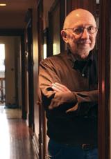 The Rev. Greg Dell, photo by Lloyd DeGrane, courtesy of Illinois Wesleyan University Magazine