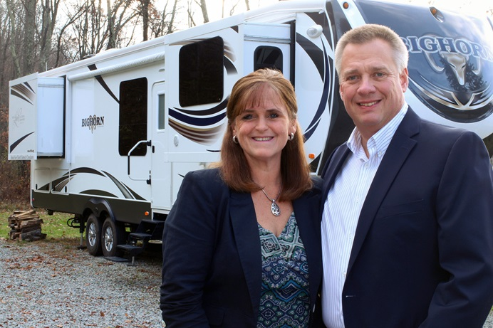 The Rev. John Zimmerman had been a United Methodist pastor for 28 years when he and wife, Christine, felt called to take their ministry on the road. The evangelists now travel in their RV from church to church with goal of getting congregations out into their communities. Photo courtesy of the Zimmermans.