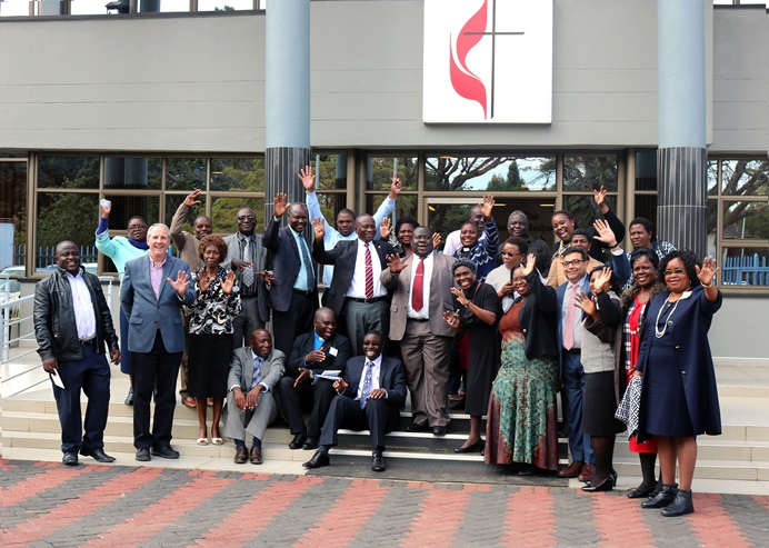 Leaders from the General Board of Church Society headquarters in Washington, D.C., traveled to Harare to meet with leaders from the Zimbabwe Episcopal Area June 20-21 to draft a revised version of its Social Principles. The decision to create a new document was made at the 2016 General Conference. The last revision was made by committee in 1968. Photo by Chenayi Kumuterera, UMNS.