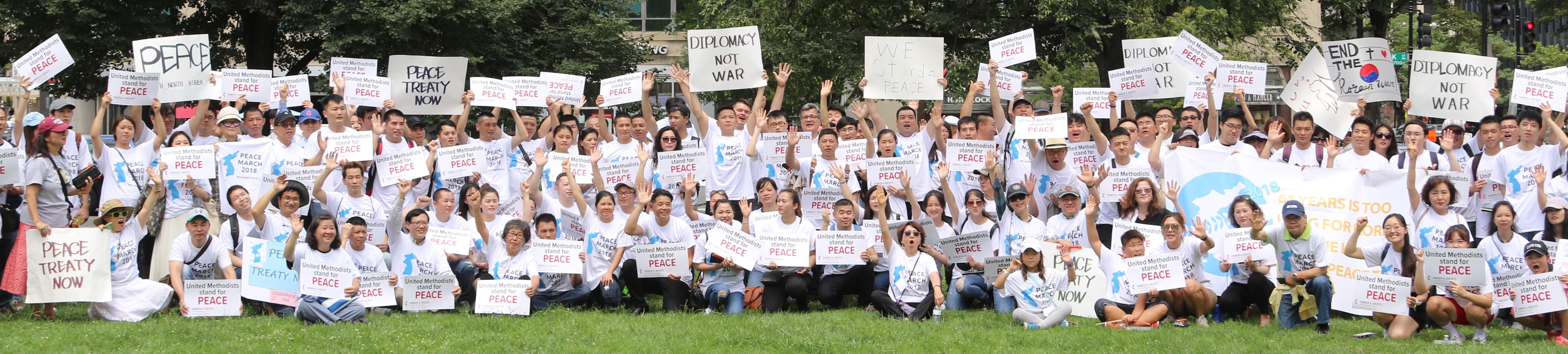 Korean Peace Festival and Vigil 2018 held at Foundry United Methodist Church , Washington DC. Photo by Thomas Kim, UMNS