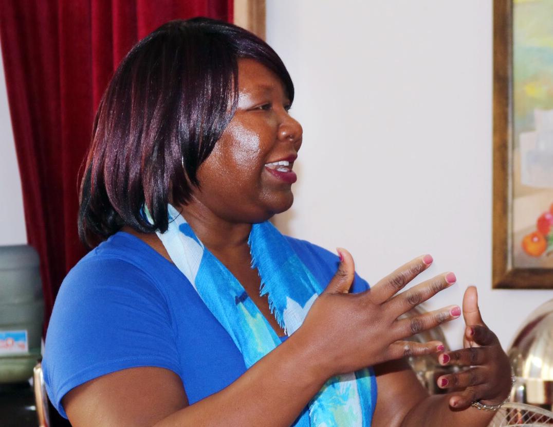 Erin Hawkins, general secretary on the United Methodist Commission on Religion and Race, speaks during the workshop to eradicate tribalism. Photo by Judith Osongo Yanga, UMNS.