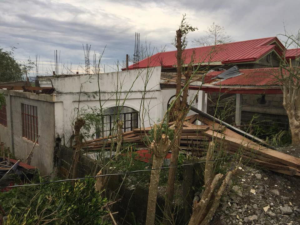Sunday School and Bible study rooms of the United Methodist Church building in San Esteban, Iguig, Cagayan, Philippines following Typhoon Mangkhut. Photo courtesy of Mildred Abella