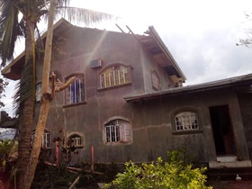 The house of Bishop Rodolfo A. Juan in Baggao, Cagayan, Philippines,  shows damage from the thyphoon. Photo courtesy of Bishop Rodolfo A. Juan