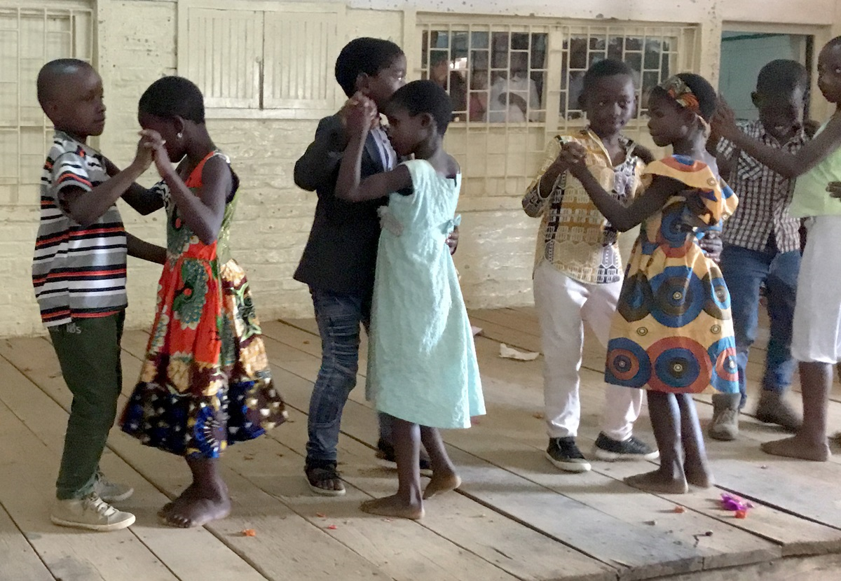 Children dance the Congolese rumba during the closing ceremony for a two-week United Methodist summer camp in Bukavu, Congo, intended to help strengthen their faith. Photo by Philippe Kituka Lolonga.