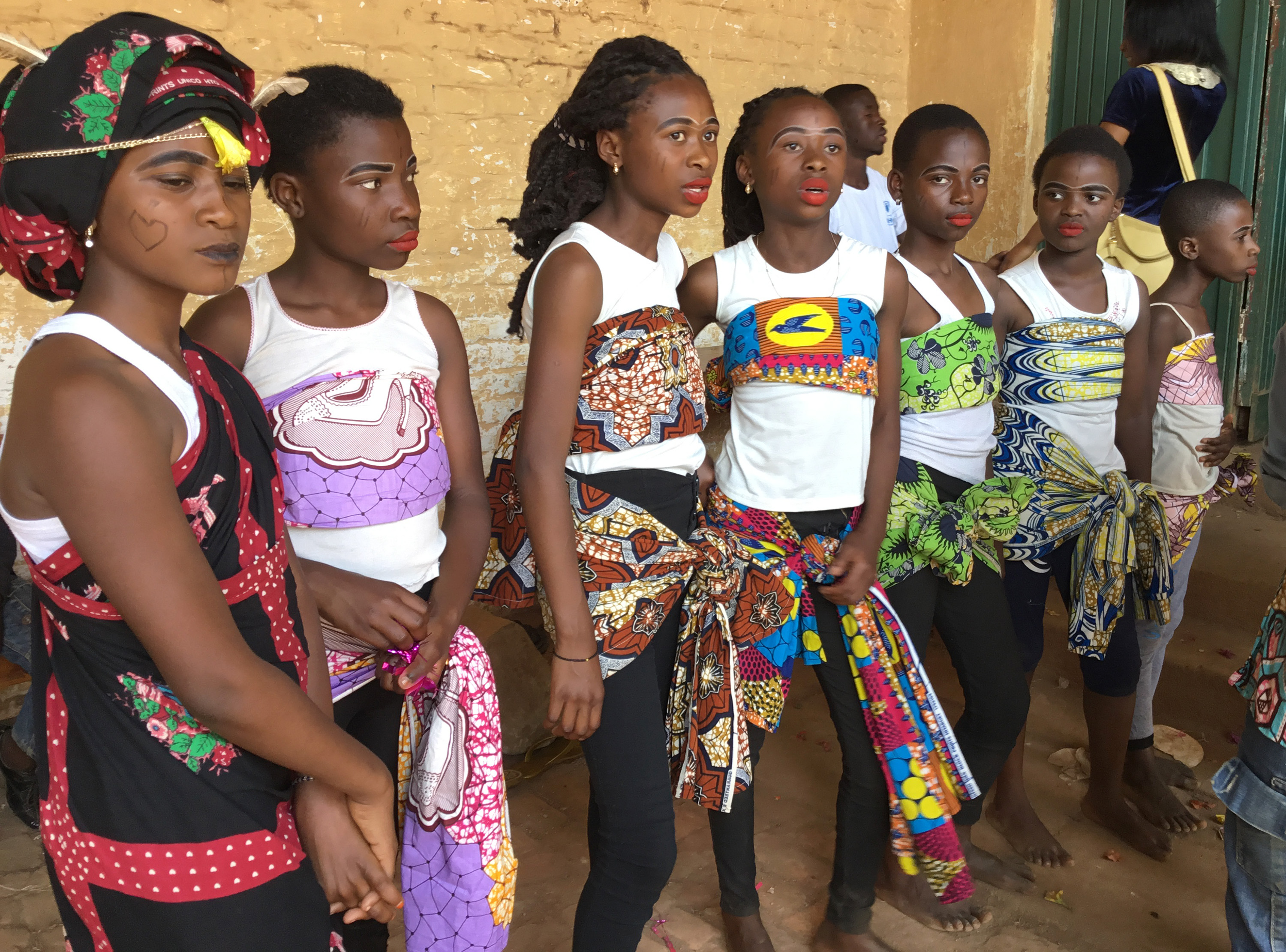 Girls are introduced to fashion and makeup during the camp. Photo by Philippe Kituka Lolonga.