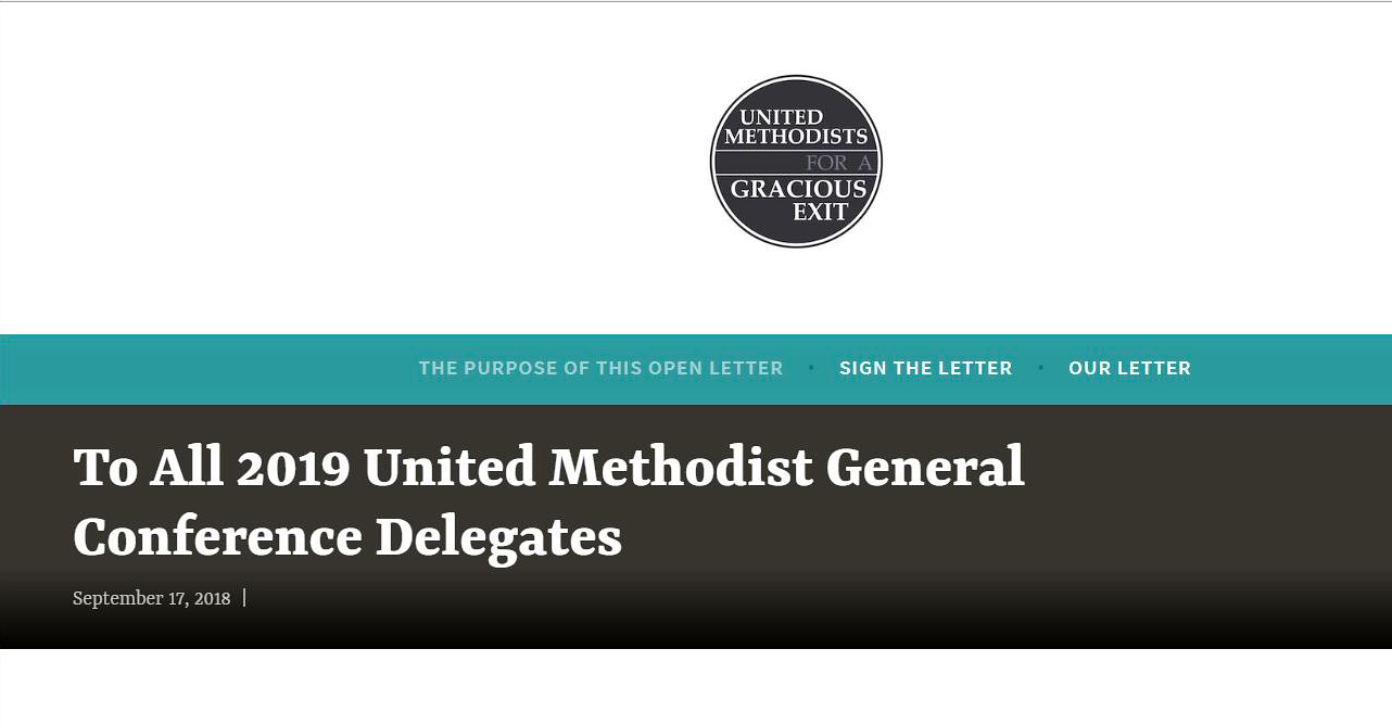 A group of United Methodists in the West Ohio Conference put together a letter that is now drawing signatures from across the U.S. Screengrab from the group's website.