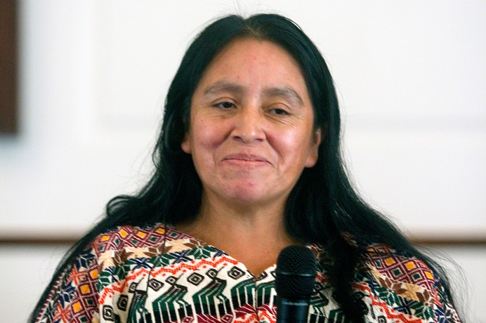 Maria Chavalan Sut is living at Wesley Memorial United Methodist Church in Charlottesville, Va., to avoid being deported to Guatemala. Photo by Richard Lord, UMNS.