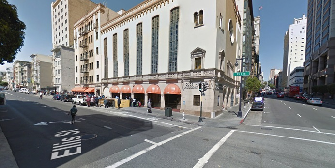 Exterior of Glide Memorial United Methodist Church in San Francisco. Photo courtesy of Google street view.