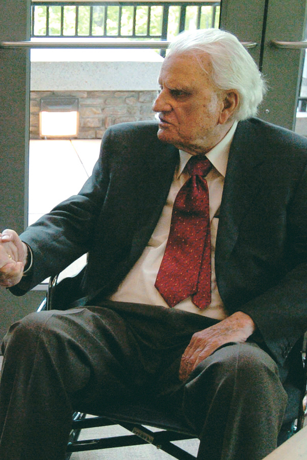 Billy Graham. Photo courtesy of Triumph Books/The Charlotte Observer.