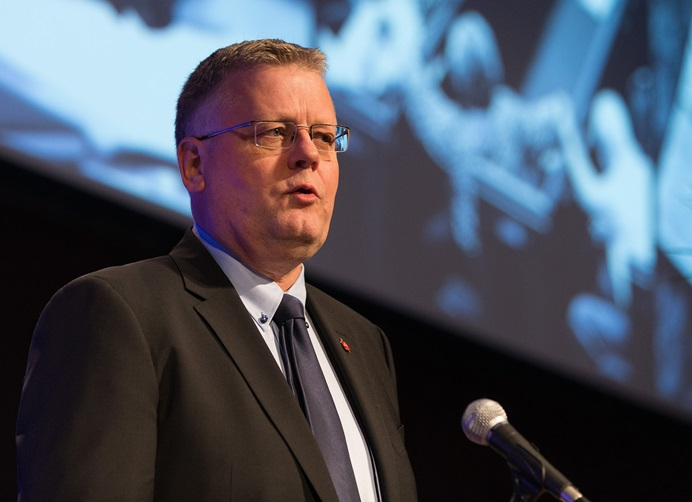"""Nordic and Baltic Area Bishop Christian Alsted says European and Eurasian delegates to the upcoming special General Conference are concerned about """"political maneuvering"""" by caucus groups within The United Methodist Church. File photo by Mike DuBose, UMNS."""