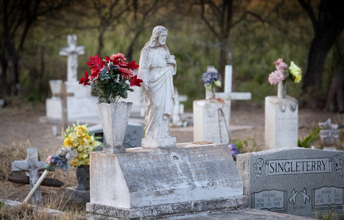 The Eli Jackson Cemetery in San Juan, Texas, is among historic cemeteries threatened by the proposed border wall between the U.S. and Mexico. Photo by Mike DuBose, UMNS.