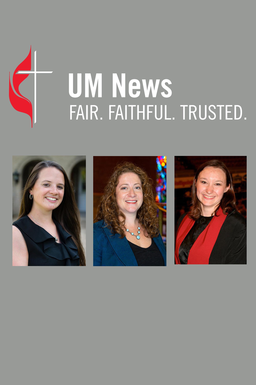 The Revs. Shannon E. Sullivan, Emily Peck-McClain, and Lauren Chafin Lobenhofer.