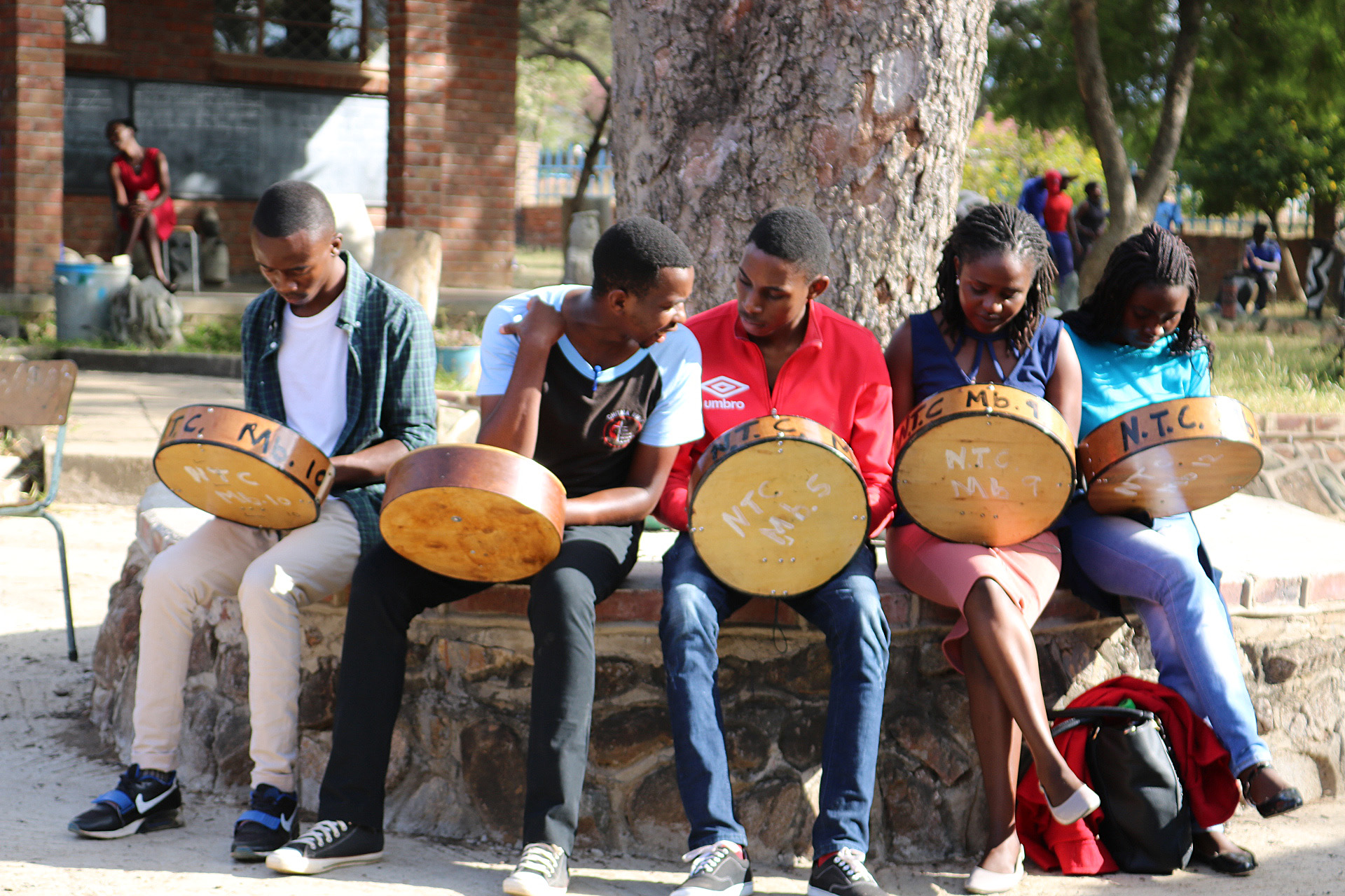 Participants learn to play the African thumb piano (mbira) during the Zimbabwe Episcopal Area's annual arts workshop in Mutoko, Zimbabwe. Photo by Eveline Chikwanah, UMNS.