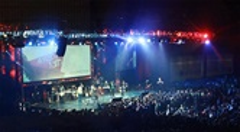 """Concierto durante el festican juvenil """"Resurreccion"""" 2019, organizado por la Conferencia Anual de Holston de La Iglesia Metodista Unida. Foto cortesía de la Conferencia Anual de Holston."""