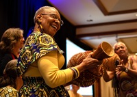Vibrant worship was a key part of the celebration of 200 years of Methodist mission, sponsored by the United Methodist Board of Global Ministries and Emory University's Candler School of Theology, which drew some 250 participants to Atlanta. Photo by Jennifer Silver, Global Ministries.