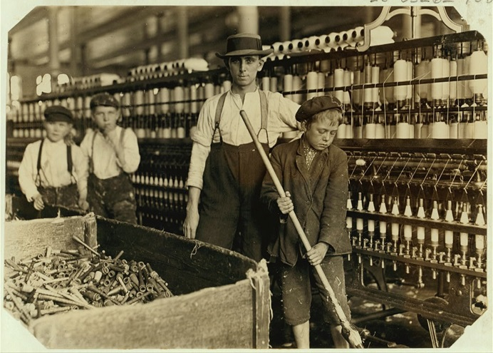 Public domain image from the National Child Labor Committee collection by Lewis Wickes-Hine, courtesy of the U.S. Library of Congress.