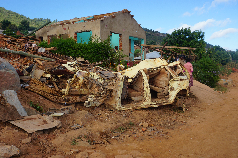 Cyclone Idai destroyed the home of Nelia Samhiri, a member of The United Methodist Church's Ministry of Women, Youth and Children. Photo by Kudzai Chingwe, UMNS.