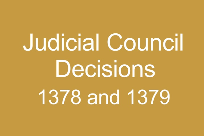A summary of the top court's rulings on GC2019 legislation on petitions 1378 and 1379 passed during the special called General Conference. Downloadable PDF. Graphic by United Methodist News Service.