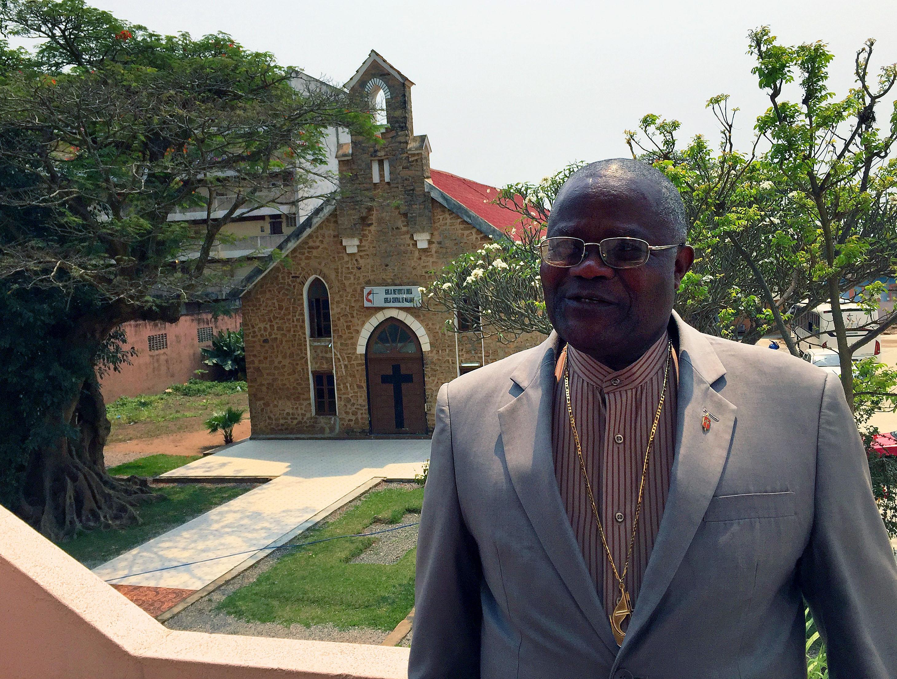 El Rev. José Quipungo es el Obispo Residente de la Conferencia del Este de  Angola en la Conferencia Central de África de La Iglesia Metodista Unida. Foto: Rev. Gustavo Vasquez, Noticias MU.