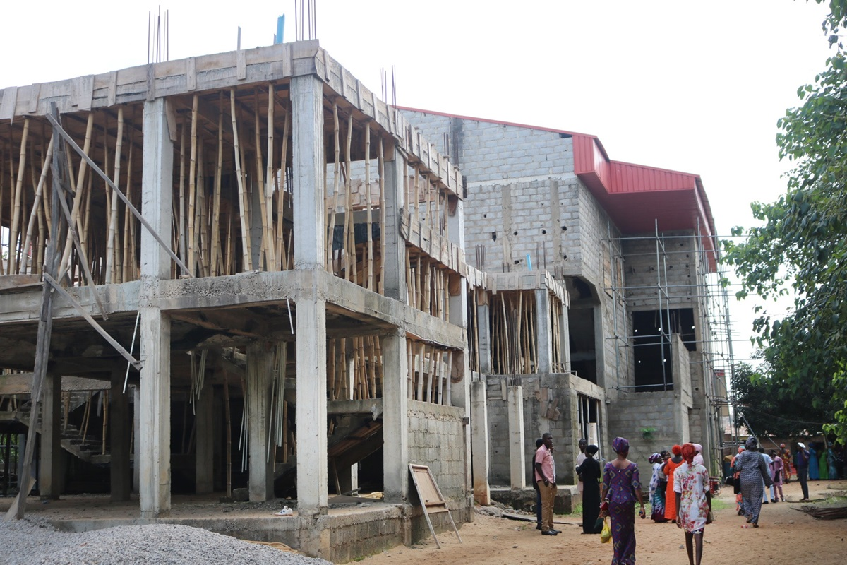 Abuja Area 1 United Methodist Church in Abuja, Nigeria, was started 10 years ago and is still under construction. Photo by E Julu Swen, UM News.