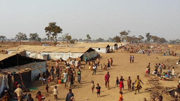The Nyarugusu refugee camp in Northwest Tanzania was created in 1996 after some 150,000 refugees fleeing war in Congo crossed into Tanzania. Many Congolese families at ChristWay United Methodist Church spent time in Tanzanian refugee camps before making their way to the U.S.  Photo by Church World Service.