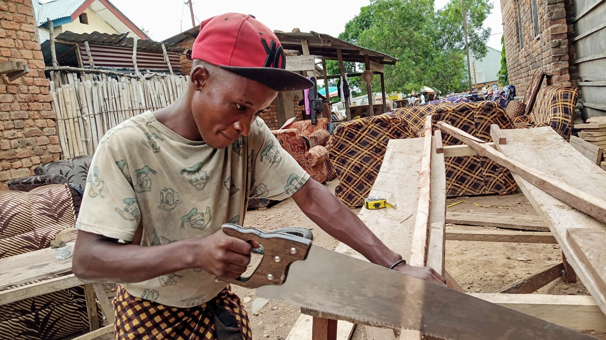 Hemedi Ndjadi, age 17, has been part of the Kindu United Methodist Orphanage in East Congo for three years where he is learning carpentry skills to become a workshop manager. Photo by Chadrack Tambwe Londe, UM News.