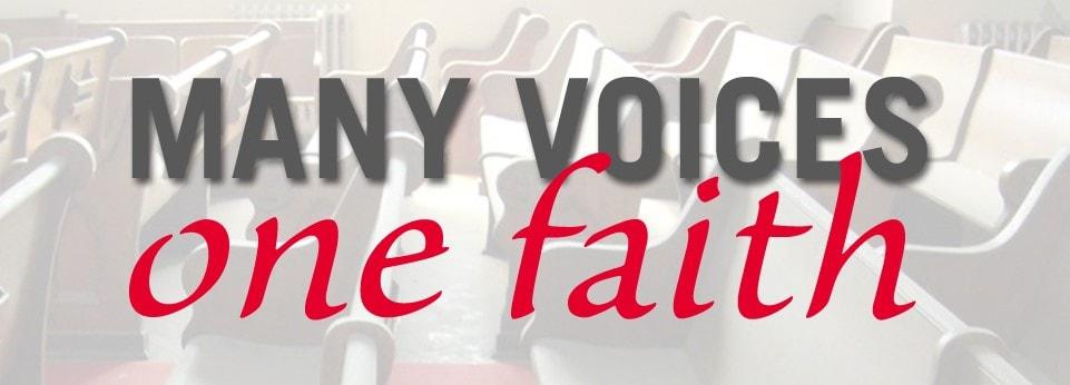 '다양한 목소리, 한 믿음(Many Voices, One Faith)'은 연합감리교회 내 관심 있는 주제에 관한 신학적 관점을 공유하고, 오늘날 연합감리교인이 된다는 것이 무엇을 의미하는지 이해를 돕기 위한 포럼이다.