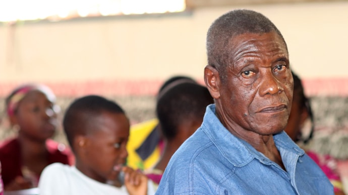 Pastor Emmanuel Kekia Nkongho recalls being attacked by rebel fighters when he was leader of three United Methodist churches in Sumbe, Akiriba and Defang, Cameroon. Photo by Isaac Broune, UM News.