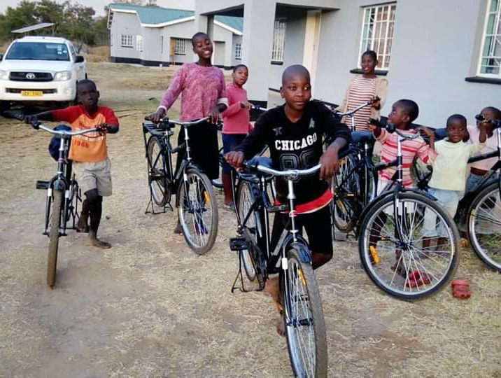Children at the Nyadire Mission's Home of Hope orphanage in Mutoko, Zimbabwe, pose with new bikes provided by Dutilh United Methodist Church in Pittsburgh. Photo by Eveline Chikwanah, UM News.