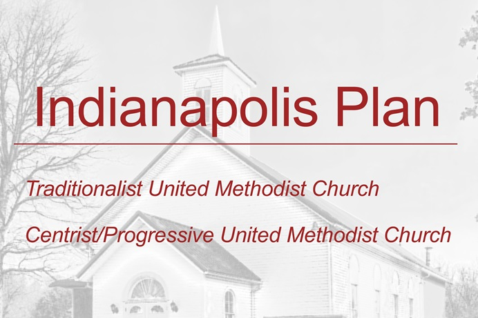 A group of centrist, progressive and traditionalist church leaders have come up with a plan for The United Methodist Church to separate amicably into two or more denominations. It's called the Indianapolis Plan, after where the group met. Photo by William Sturgell, courtesy of Pixabay; graphic by UM News.