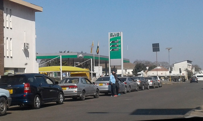 Motorists line up to purchase fuel in Harare, Zimbabwe. Power shortages in the country are affecting United Methodist hospitals, schools and churches. Photo by Kudzai Chingwe, UM News.