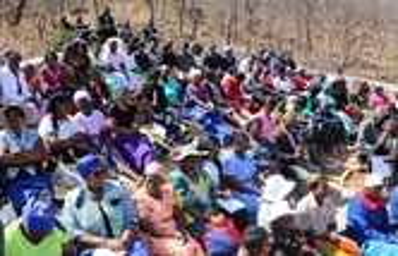 United Methodist clergy and church members witness the dedication of the Chin'ando prayer shrine in Old Mutare, Zimbabwe. Photo by the Rev. Taurai Emmanuel Maforo, UM News.