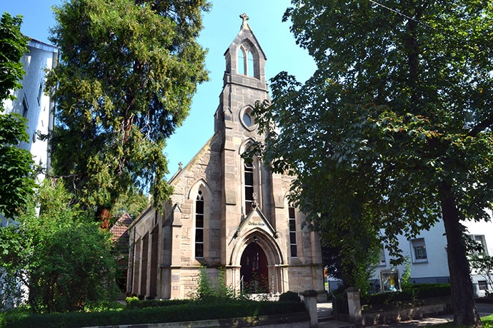 A view of the United Methodist Christ Church Stuttgart-Bad Cannstatt located in Stuttgart-Bad Cannstatt, Germany. The General Board of Global Ministries sponsored a pilot project in Stuttgart Aug. 22-30 to provide training for church leaders providing humanitarian assistance or who may be receiving new members who speak different languages due to migration. Photo by Klaus U. Ruof, UM News.