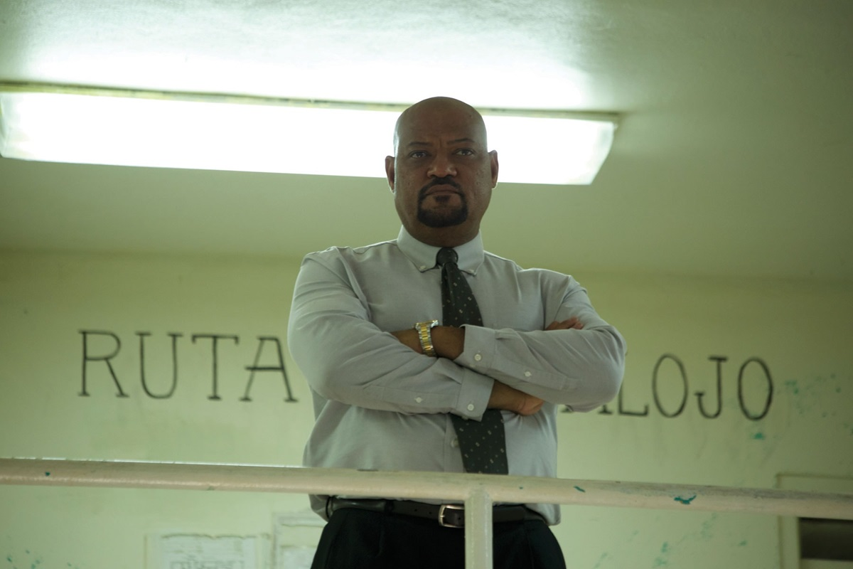 "Laurence Fishburne stars as Warden Daniel Calvin in the film ""Imprisoned,"" about a clash between the warden and an ex-con who is tied to a tragedy in Calvin's past. Photo courtesy of Equitas Entertainment Partners."