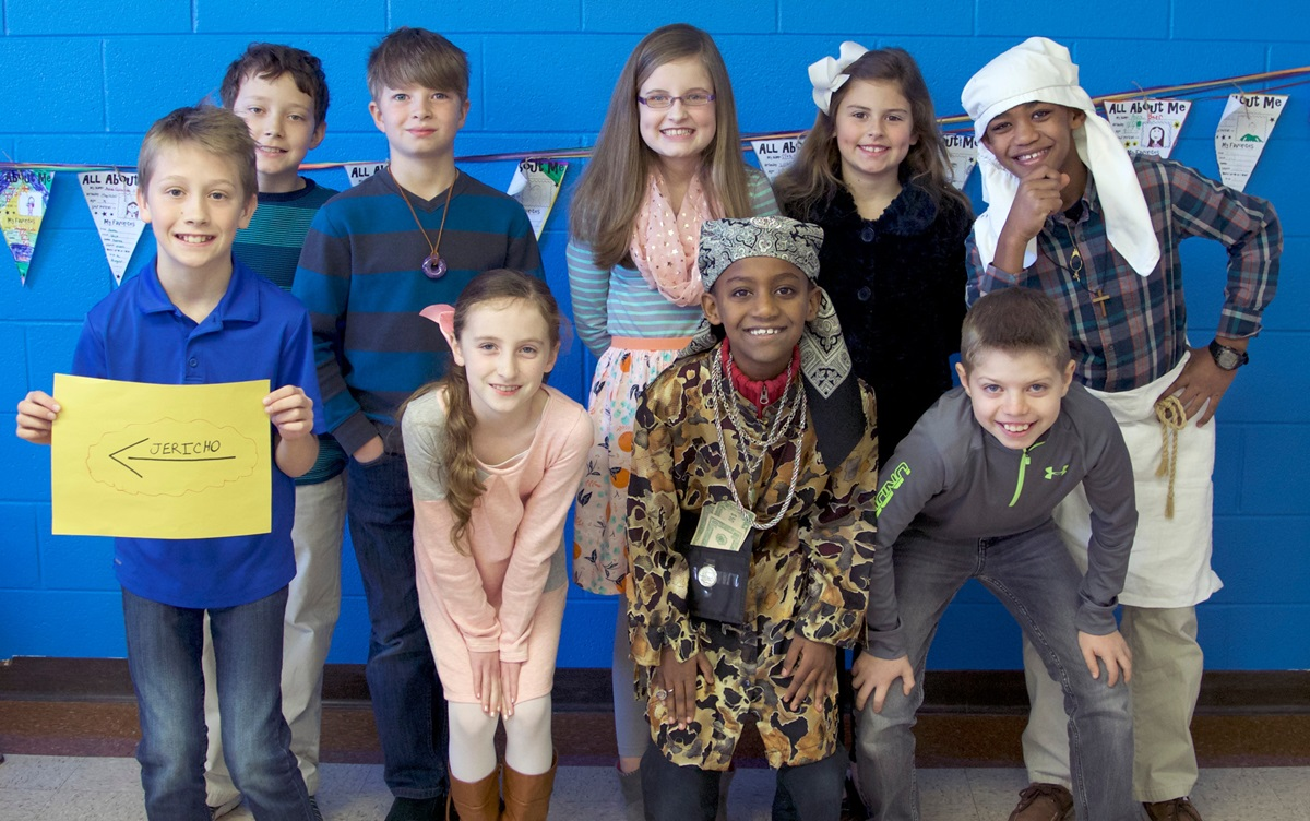 Students gather for a Sunday school class at Brentwood (Tenn.) United Methodist Church. Photo courtesy of Brentwood United Methodist Church.