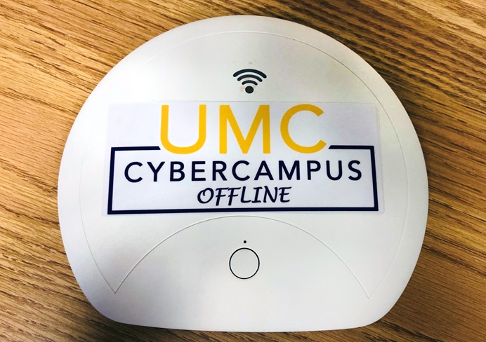 "The portable ""UMC Cyber Campus Offline"" hotspot device provides digitalized educational materials to areas without internet access. Photo by the Rev. HiRho Park, United Methodist Board of Higher Education and Ministry."