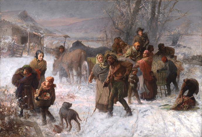 """The Underground Railroad"" is an 1893 painting by Charles T. Webber in the Cincinnati Art Museum. Photo courtesy of Wikimedia Commons."