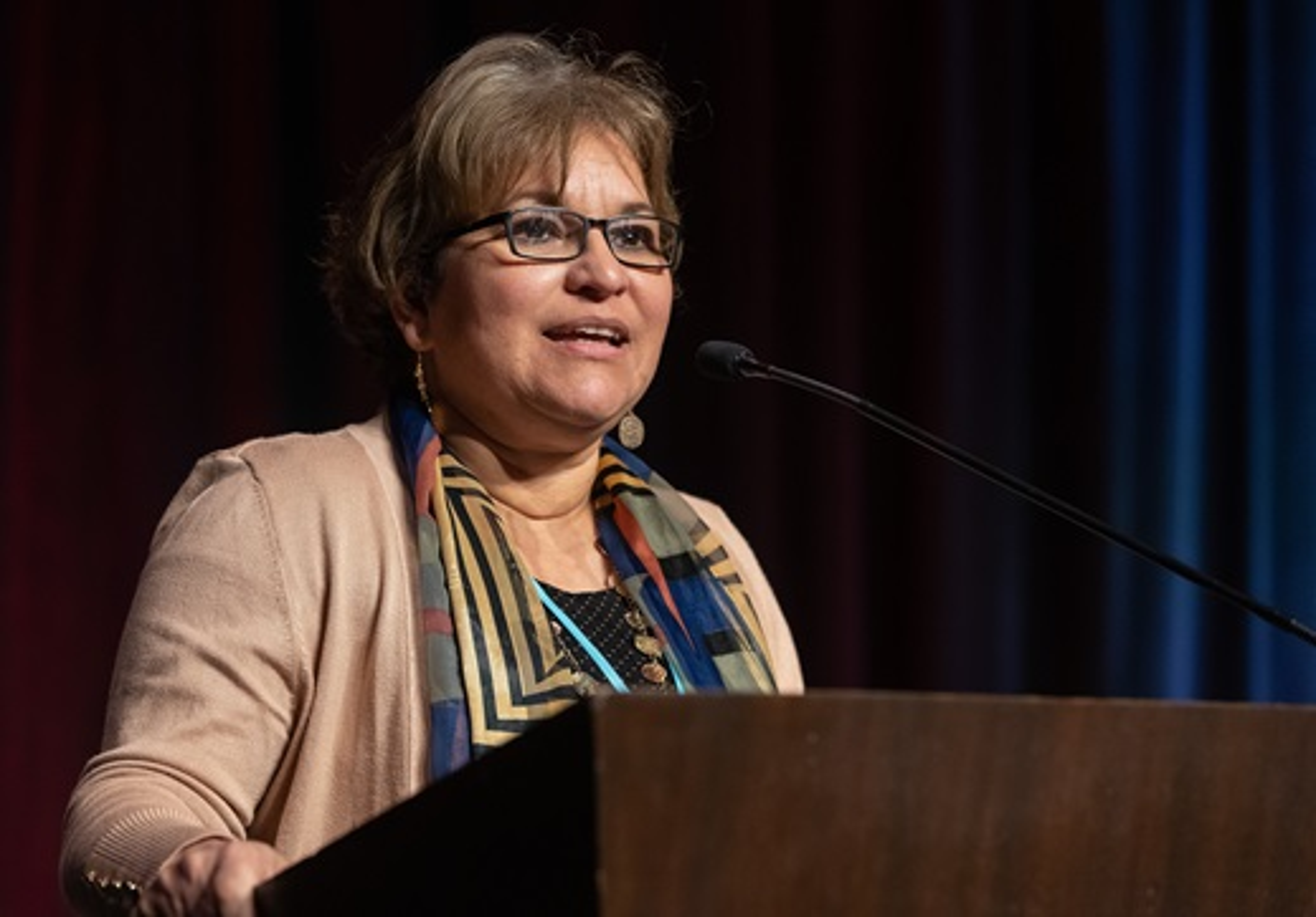 Revda. Lyssette Perez, Pastora en la IMU Oasis en Pleasantville, Nueva Jersey y presidenta de MARCHA. Foto Mike DuBose, Noticias MU.