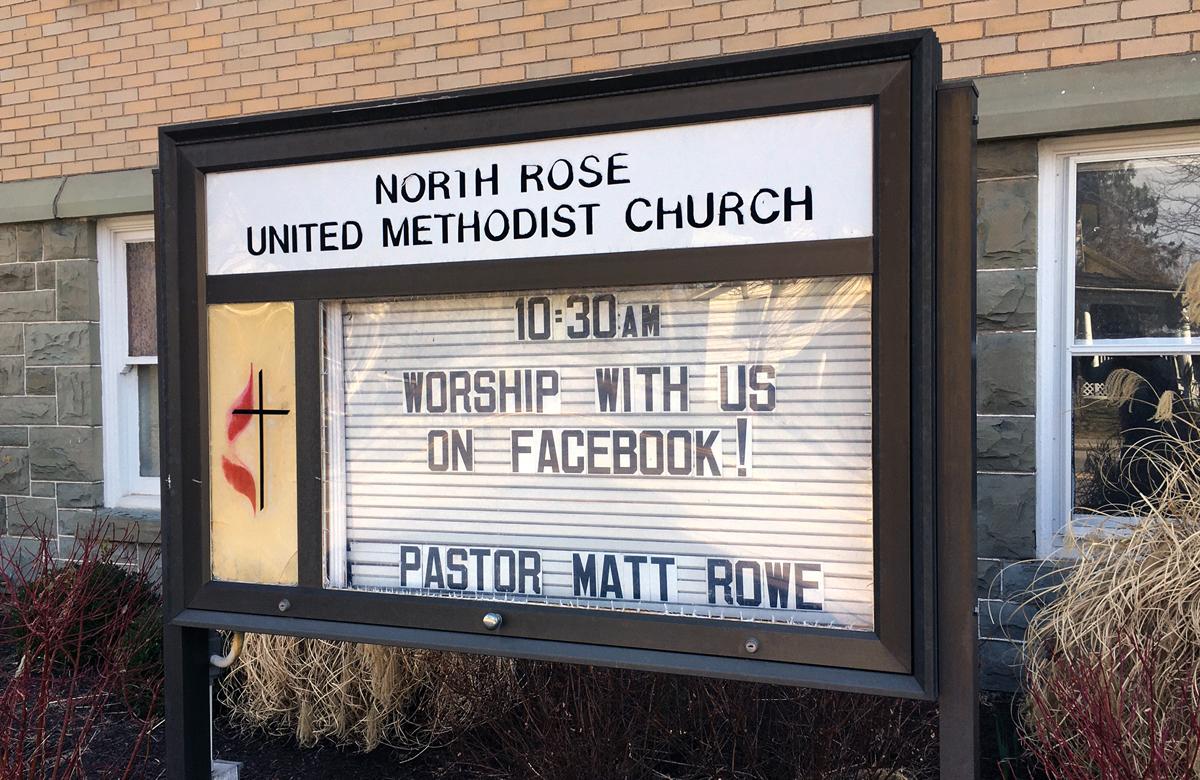 La IMU North Rose en North Rose, Nueva York, está utilizando las redes sociales para el culto y para reuniones de grupos pequeños durante la amenaza del coronavirus. Foto cortesía de la IMU North Rose.